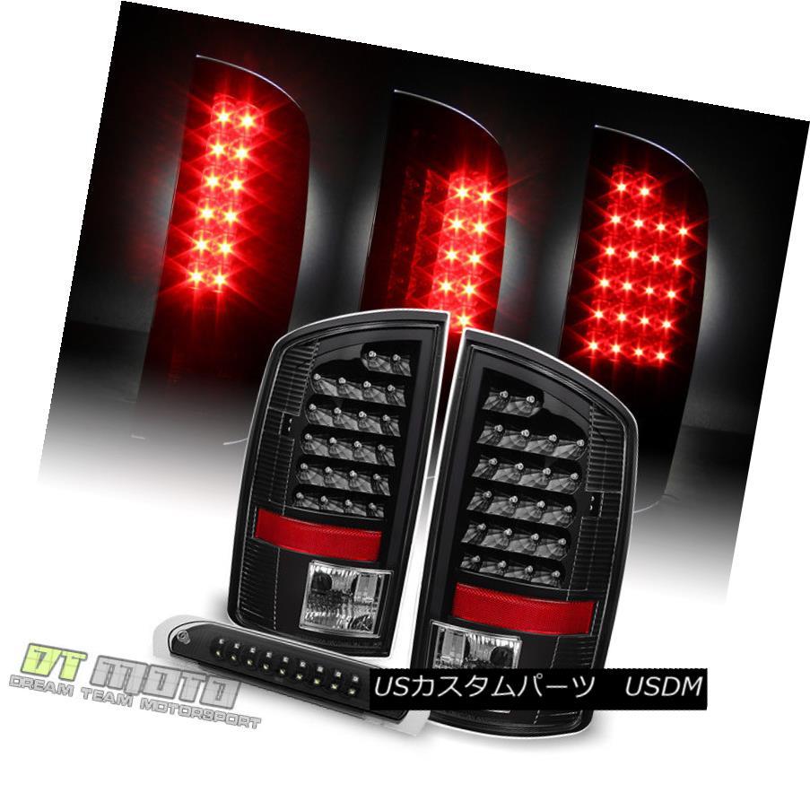 テールライト Blk 2002-2006 Dodge Ram 1500 2500 3500 LED Tail lights +LED 3rd Brake Cargo Lamp Blk 2002-2006 Dodge Ram 1500 2500 3500 LEDテールライト+ LED第3ブレーキカーゴランプ