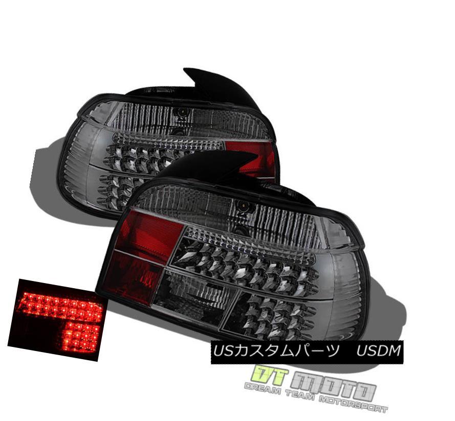 テールライト Smoked 1997-2000 BMW E39 5-Series Lumileds LED Tail Lights Lamps Pair Left+Right スモーク1997-2000 BMW E39 5シリーズLumileds LEDテールライトランプペア左右+右