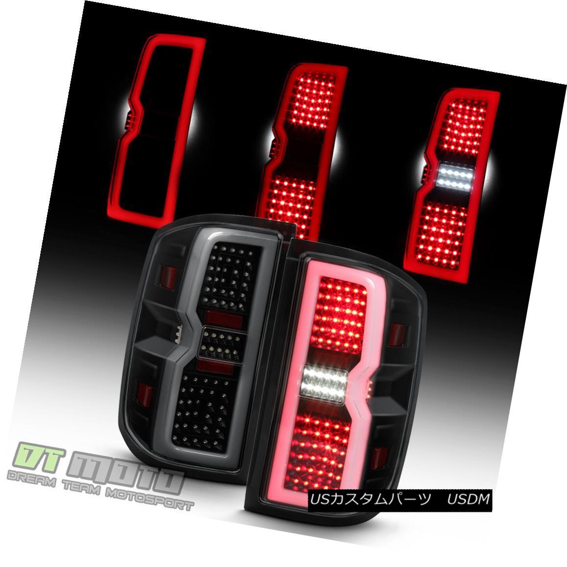 テールライト Blk Smoke [3D Sequential Signal] 2014-2017 Chevy Silverado 1500 LED Tail Lights Blk Smoke [3D Sequential Signal] 2014-2017 Chevy Silverado 1500 LEDテールライト