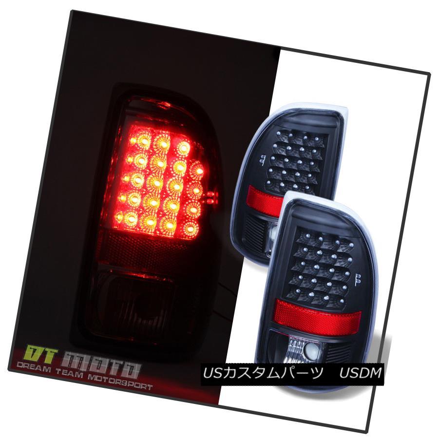 テールライト Black 1997-2004 Dodge Dakota LED Tail Lights Brake Lamps Replacement Left+Right 黒1997-2004 Dodge Dakota LEDテールライトブレーキランプ交換左+右