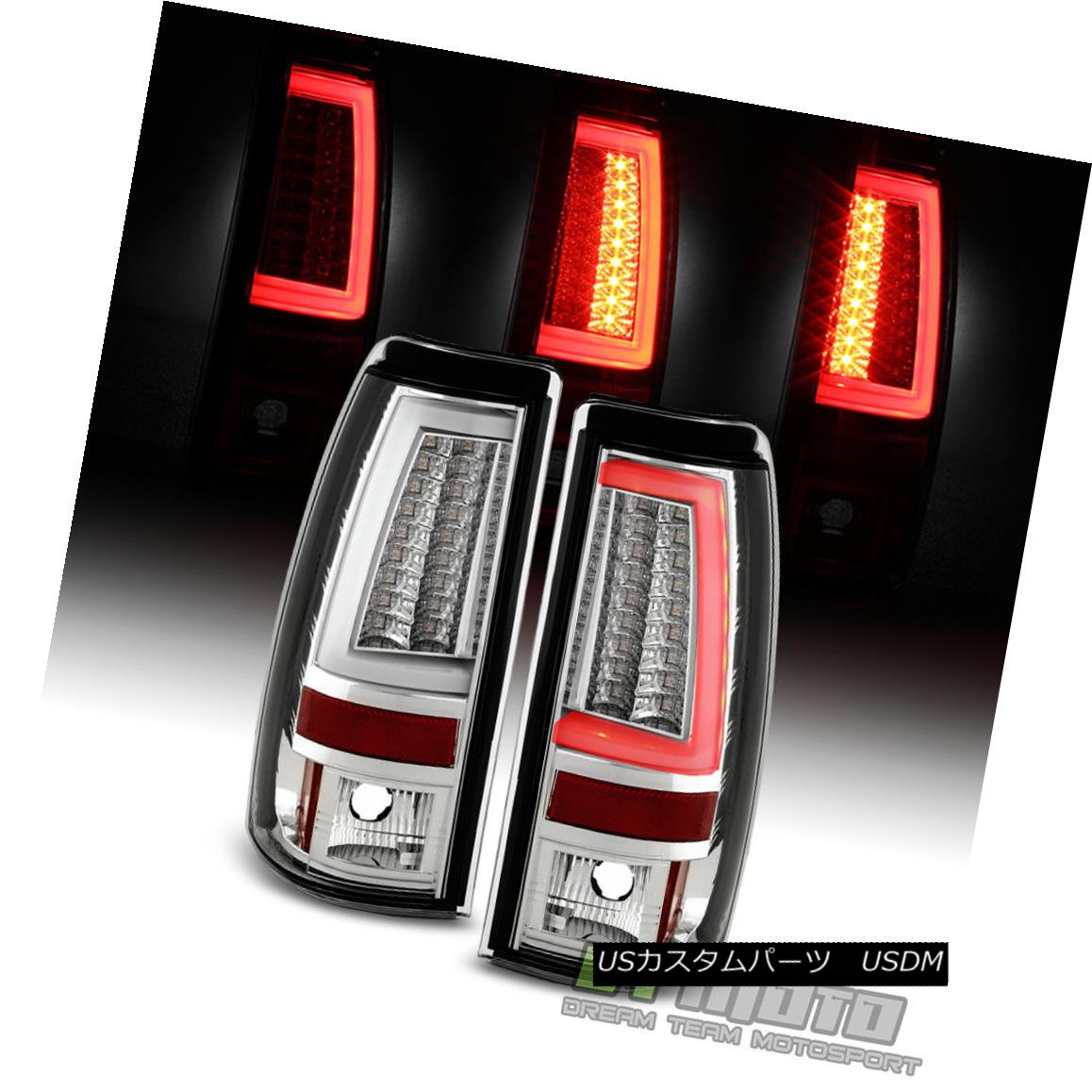 テールライト 1999-2002 Chevy Silverado/Sierra 1500 2500 3500 LED Tube Tail Lights Brake Lamps 1999-2002 Chevy Silverado / Sier ra 1500 2500 3500 LEDチューブテールライトブレーキランプ