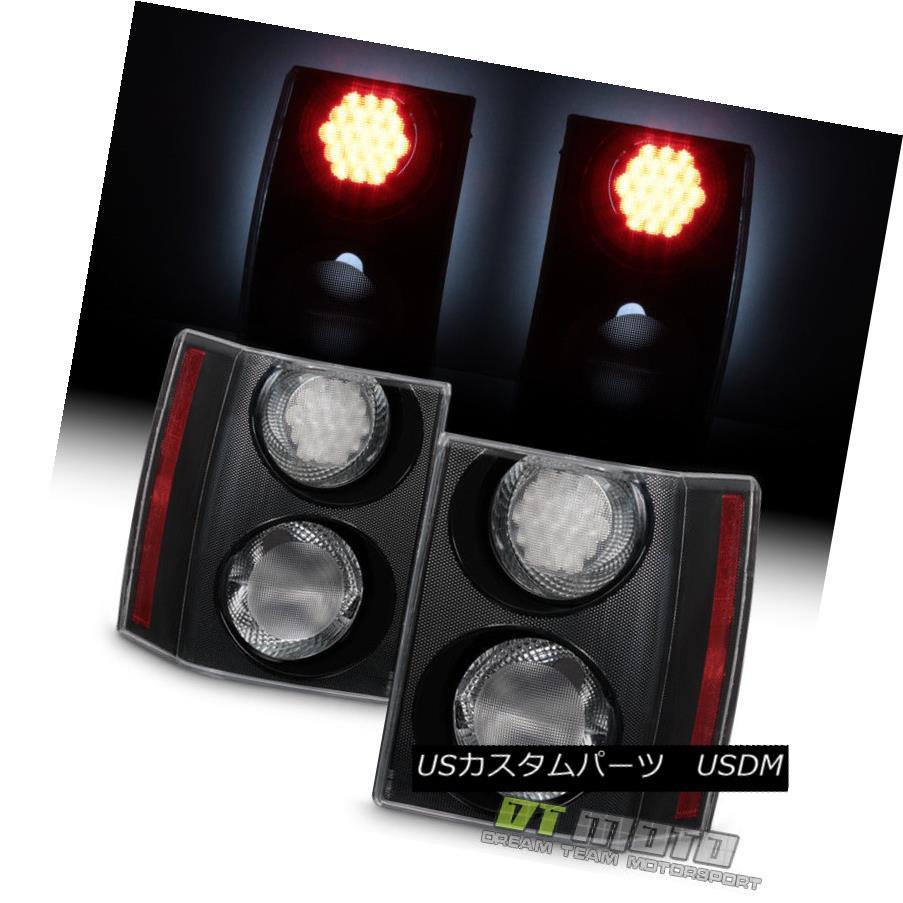 テールライト 2006-2009 Land Rover Range Rover HSE EURO Black/Clear LED Tail Lights Left+Right 2006-2009年ランドローバーレンジローバーHSE EUROブラック/クリアLEDテールライト左+右