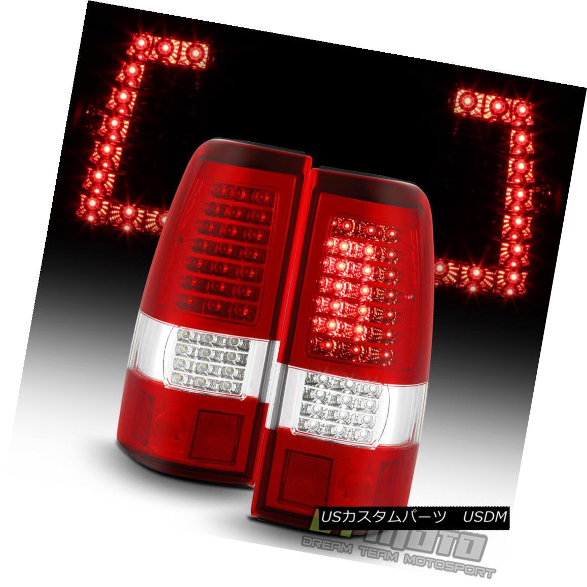 テールライト 2003-2006 Chevy Silverado 1500 2500 3500 Red Clear C-Strip LED Tail Lights Lamps 2003-2006 Chevy Silverado 1500 2500 3500レッドクリアCストリップLEDテールライトランプ
