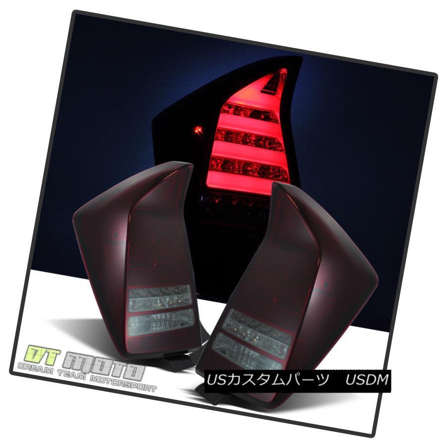 テールライト Fits 2010 2011 Prius Red Smoke Neon Bar Lumileds Led Tail Lights Brake Lamps L+R フィット2010年2011プリウスレッドスモークネオンバーLumileds LedテールライトブレーキランプL + R