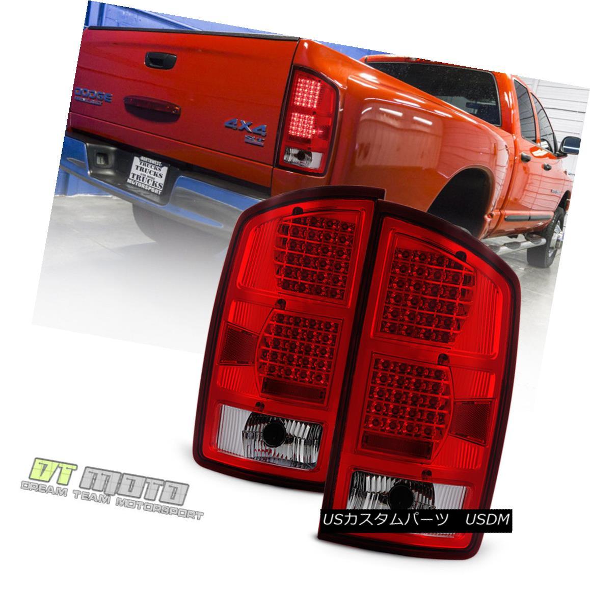 テールライト 2002-2006 Dodge Ram 1500 LED Red Clear Tail Lights Brake Signal Lamps Left+Right 2002-2006 Dodge Ram 1500 LEDレッドクリアテールライトブレーキ信号ランプ左右+右