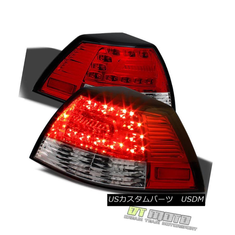 テールライト 2008-2009 Pontiac G8 Red Clear Lumileds LED Tail Lights Brake Lamps Left+Right 2008 - 2009年ポンティアックG8レッドクリアLumileds LEDテールライトブレーキランプ左+右