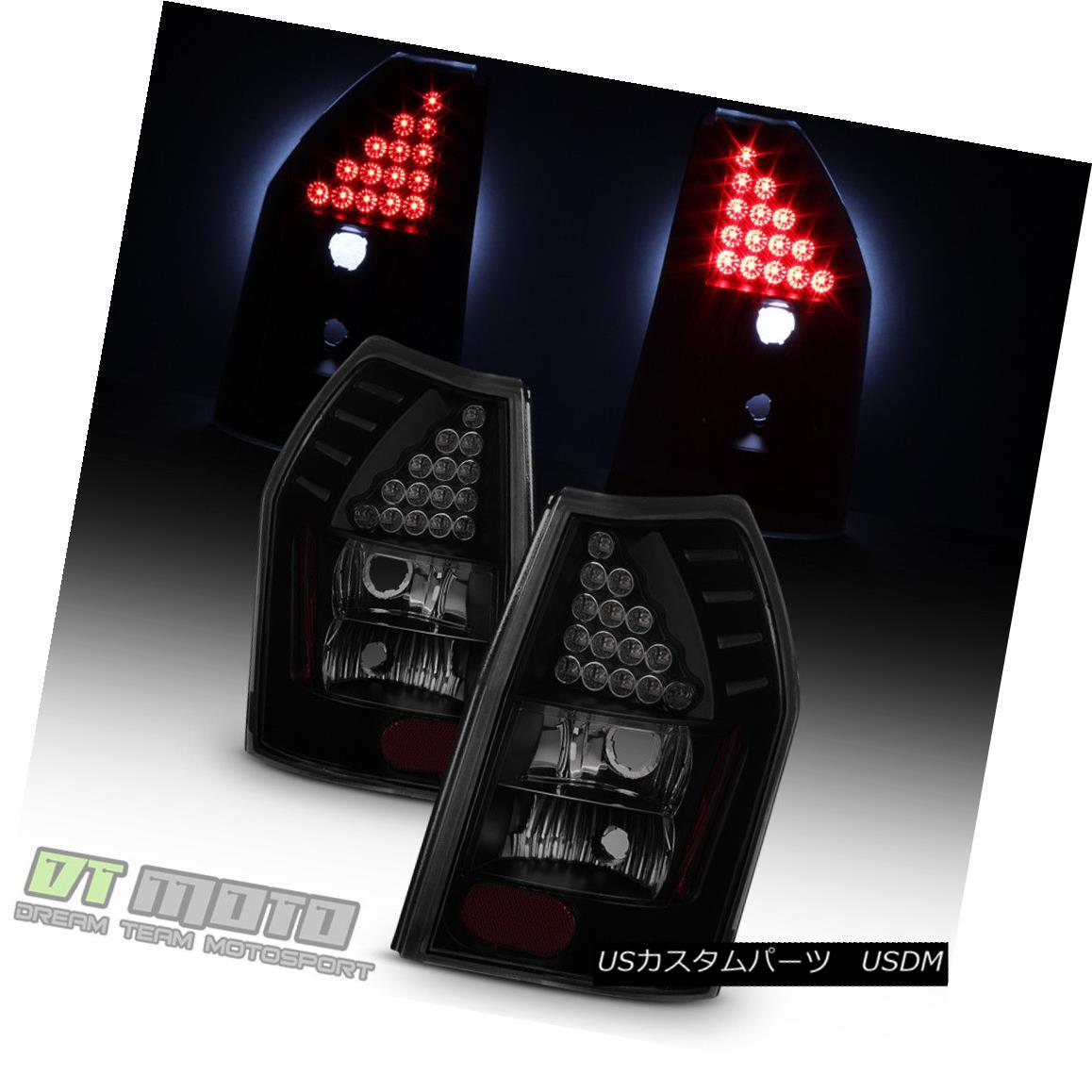 テールライト Black Smoked 2005-2008 Dodge Magnum LED Tail Lights Brake Lamps 05-08 Left+Right ブラックスモーク2005-2008ドッジマグナムLEDテールライトブレーキランプ05-08左+右