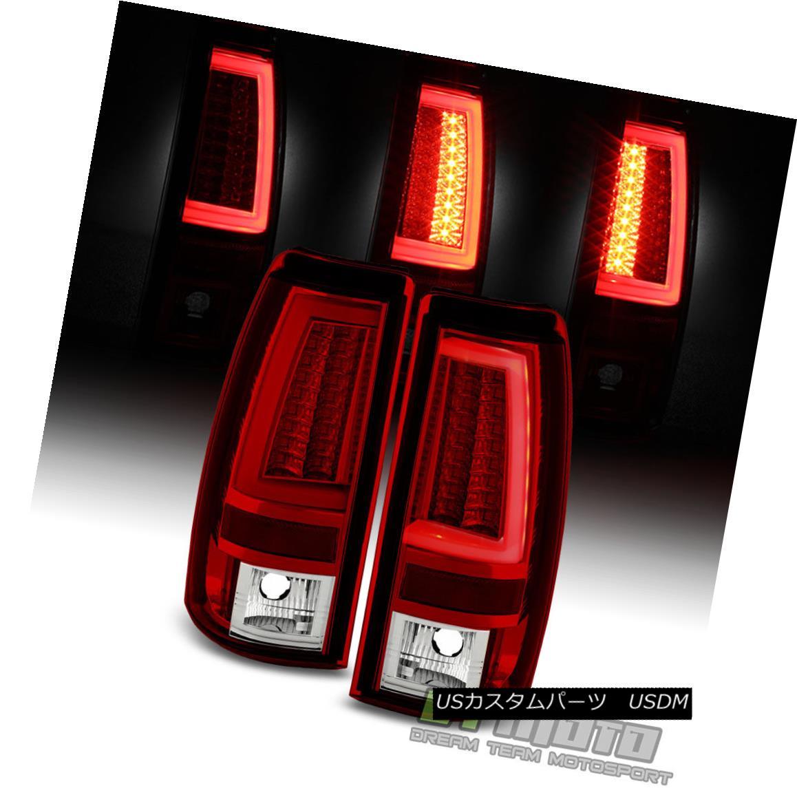 テールライト [Neon Pyro Tube] 2003-2006 Chevy Silverado Red Clear LED Tail Lights Brake Lamps [ネオンパイロチューブ] 2003-2006シボレーシルバラードレッドクリアLEDテールライトブレーキランプ