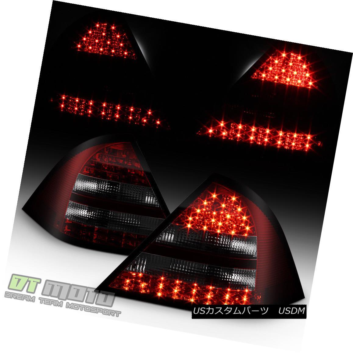 テールライト Red Smoked 2001-2004 Mercedes Benz W203 C-Class LED Tail Lights Lamps sets 01-05 レッドスモーク2001-2004メルセデスベンツW203 CクラスLEDテールライトランプ01-05