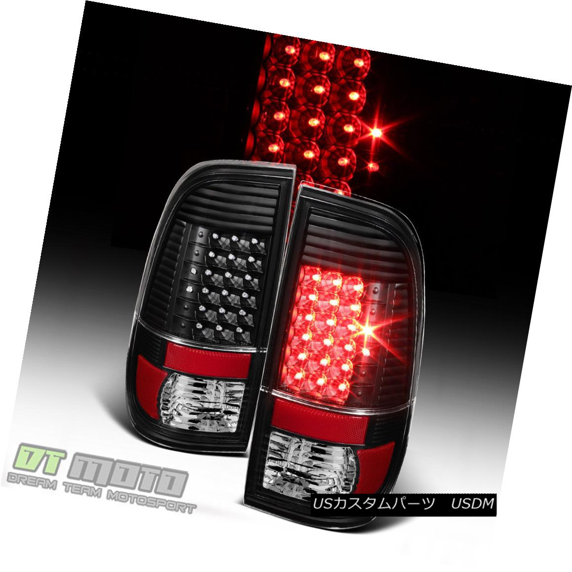 テールライト Black 2008-2016 Ford F250 F350 F450 SuperDuty LED Tail Lights Brake Lamps ブラック2008-2016 Ford F250 F350 F450 SuperDuty LEDテールライトブレーキランプ