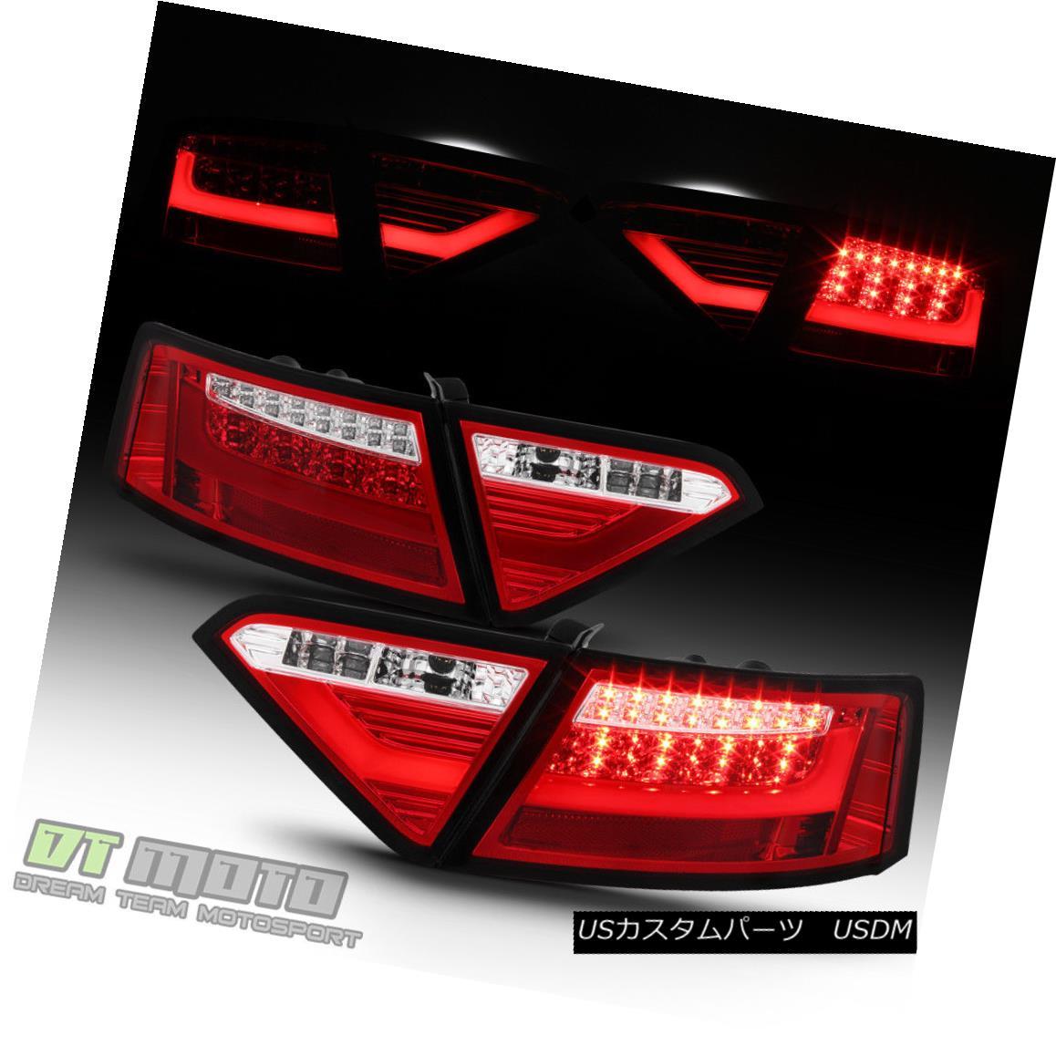 テールライト LED Light Tube Tail Brake Lamps For 2008-2012 Audi A5 S5 Factory LED Model 4pcs LEDライトチューブテールブレーキランプ2008年?2012年Audi A5 S5工場LEDモデル4個