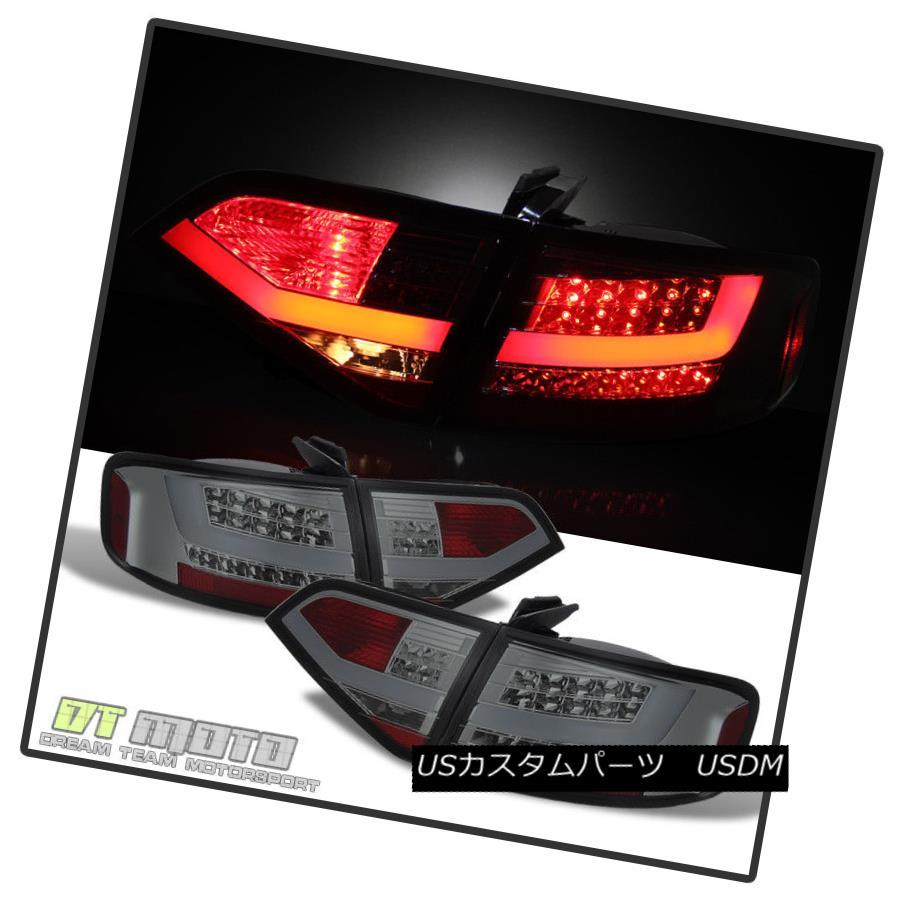 テールライト Smoked 09-12 Audi A4 S4 B8 Sedan Lumileds Led Tail Lights Brake Lamps Left+Right スモーク09-12アウディA4 S4 B8セダンLumileds Ledテールライトブレーキランプ左+右
