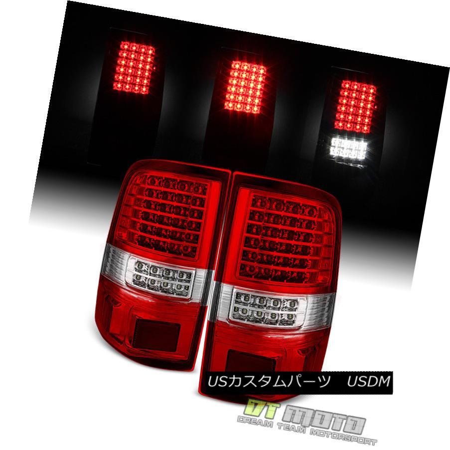 テールライト 2004-2008 Ford F150 Red Clear Full LED Tail Lights Brake Lamps 04-08 Left+Right 2004-2008フォードF150レッドクリアフルLEDテールライトブレーキランプ04-08 Left + Right