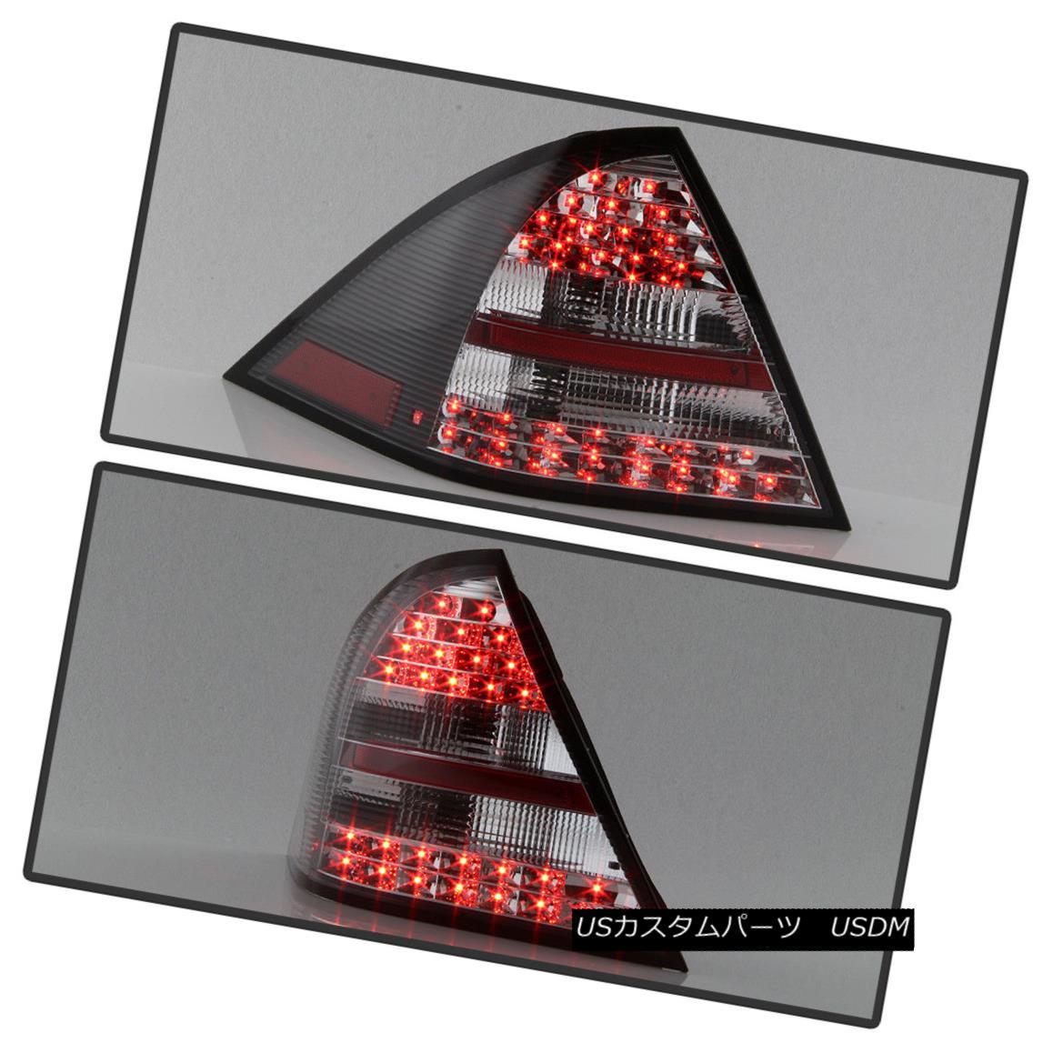 テールライト Black 2001-2004 Mercedes W203 C-Class LED Tail Lights C230/C240/C320/C55/C32 ブラック2001-2004メルセデスW203 CクラスLEDテールライトC230 / C240 / C320 / C55 / C32