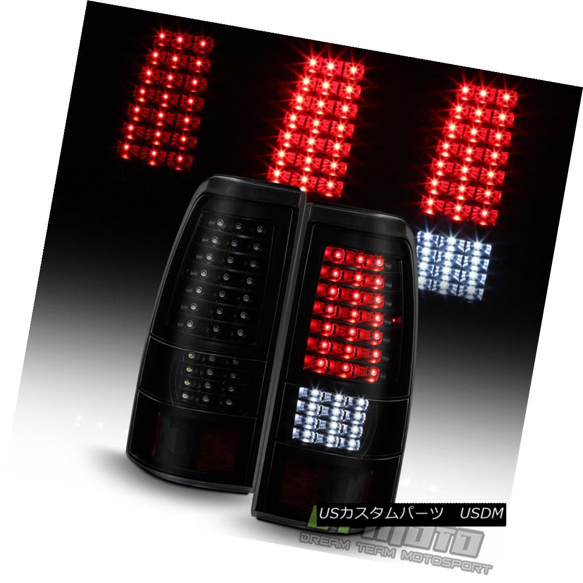 テールライト Black Smoke 1999-2006 GMC Sierra 1999-2002 Chevy Silverado Full LED Tail Lights ブラックスモーク1999-2006 GMC Sierra 1999-2002 Chevy SilveradoフルLEDテールライト