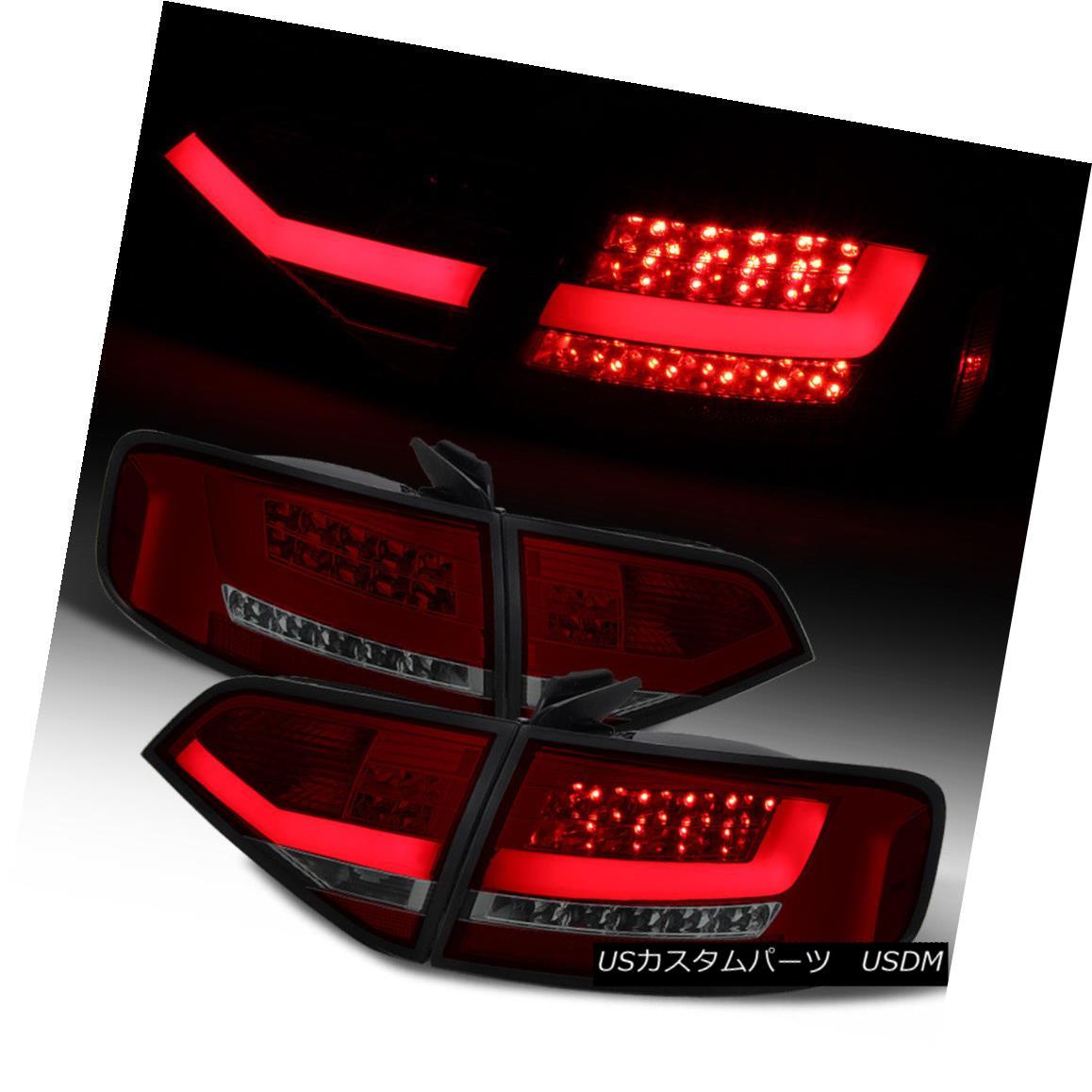 テールライト 2009-2012 Audi A4 S4 B8 Sedan Lumileds LED Red Smoke Tail Lights Brake Lamps Set 2009-2012 Audi A4 S4 B8セダンルミレッズLEDレッド煙テールライトブレーキランプセット