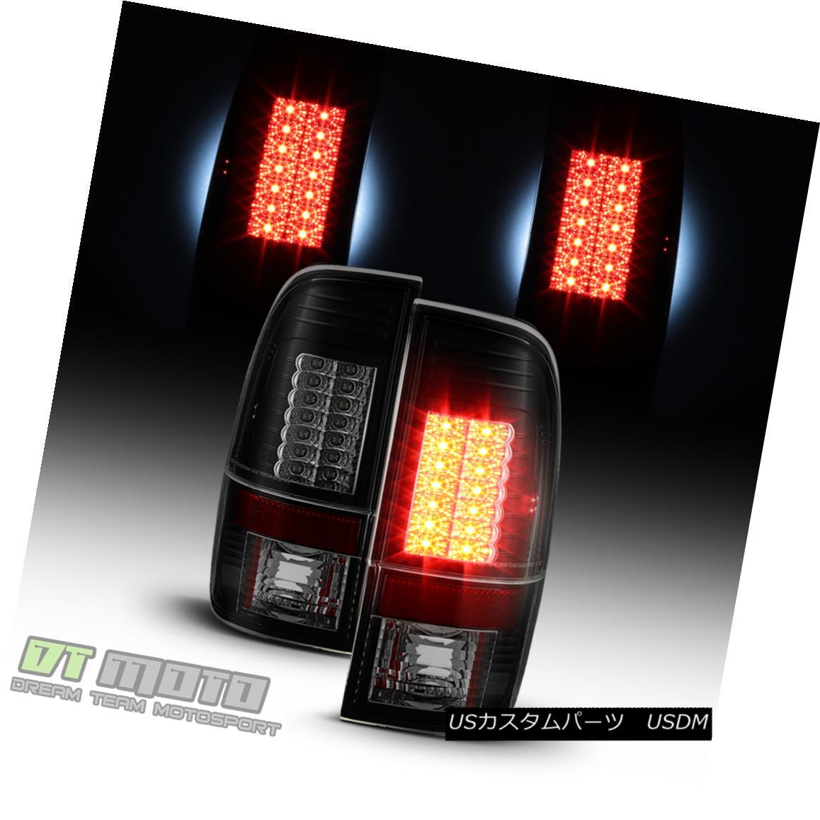 テールライト Black Smoke 1997-2003 Ford F150 99-07 F250 F350 SuperDuty LED Tail Lights Lamps ブラックスモーク1997-2003フォードF150 99-07 F250 F350 SuperDuty LEDテールライトランプ