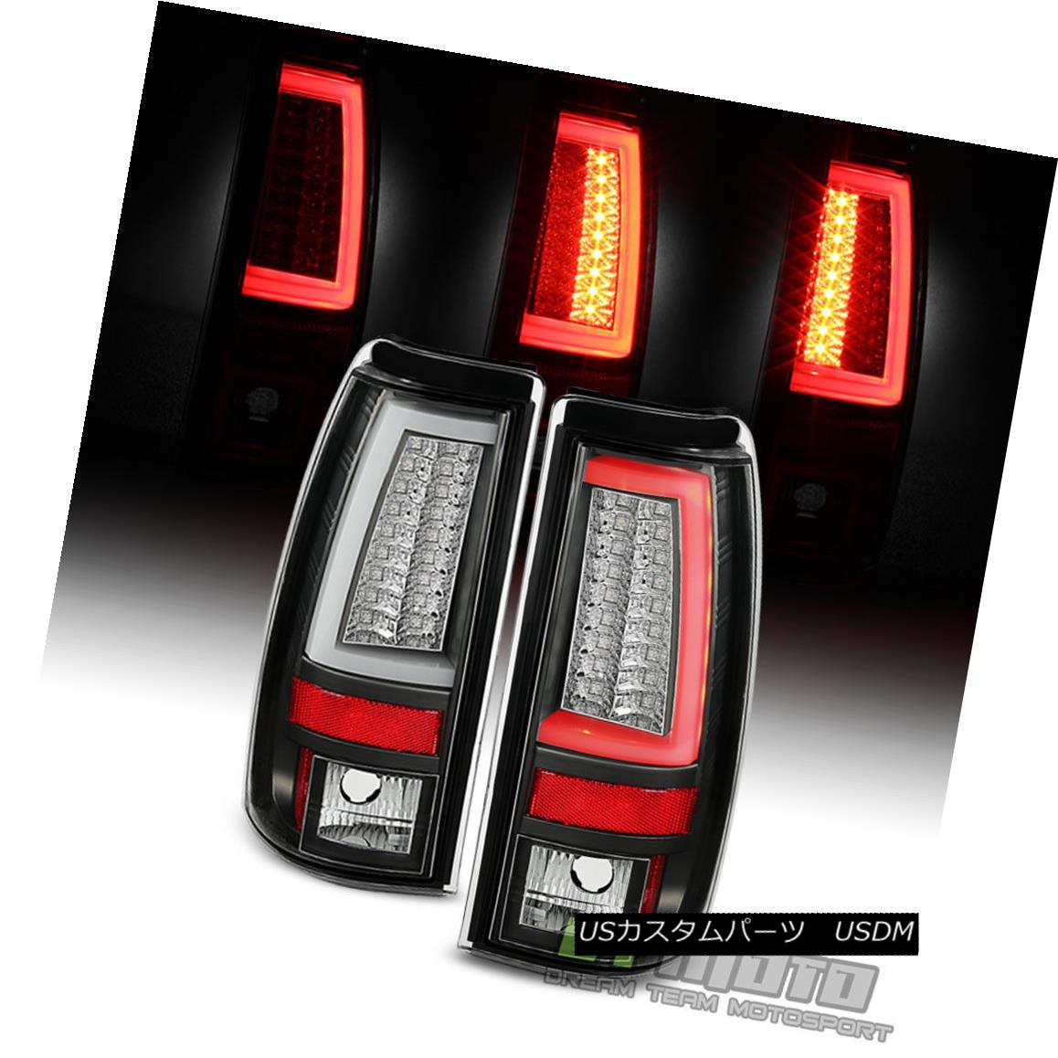 テールライト Blk 1999-2002 Chevy Silverado 99-06 GMC Sierra LED Tube Tail Lights Brake Lamps Blk 1999-2002 Chevy Silverado 99-06 GMC Sierra LEDチューブテールライトブレーキランプ