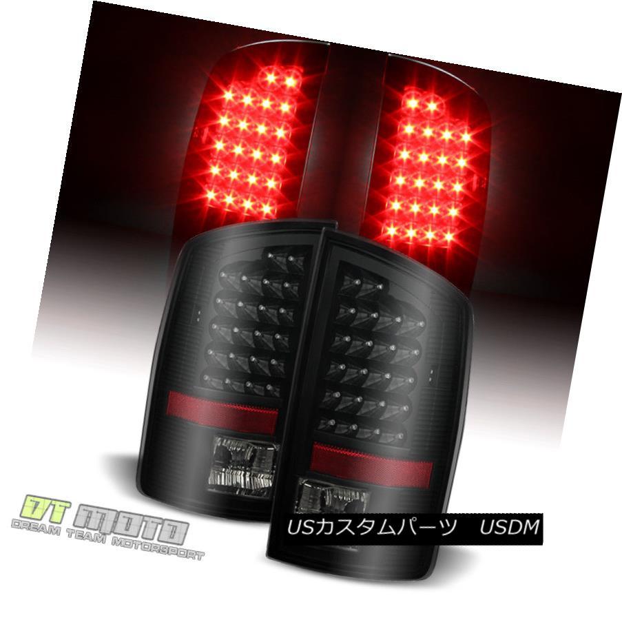 テールライト Black Smoked 2007-2008 Dodge Ram 1500/07-09 2500/3500 LED Tail Lights Left+Right ブラックスモーク2007-2008ダッジラム1500 / 07-09 2500/3500 LEDテールライトLeft + Right
