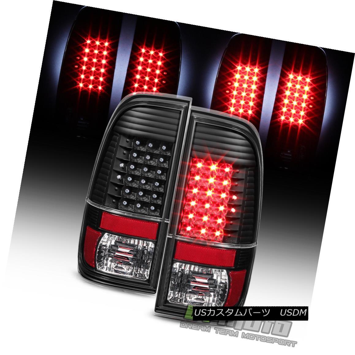 テールライト Blk 1997-2003 Ford F150 1999-2007 F250 F350 F450 Superduty LED Tail Lights Lamps Blk 1997-2003 Ford F150 1999-2007 F250 F350 F450 Superduty LEDテールライトランプ