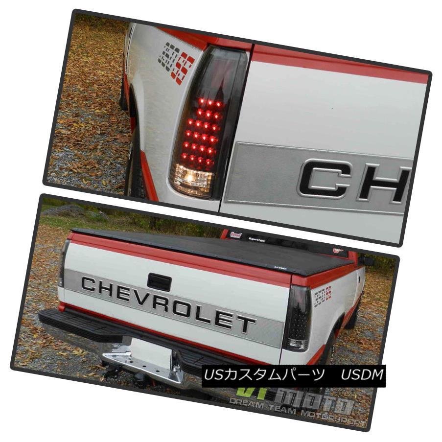 テールライト Black 1988-1998 chevy Silverado C/K Suburban Tahoe Sierra LED Tail Lights Lamps Black 1988-1998 Chevy Silverado C / K郊外Tahoe Sierra LEDテールライトランプ