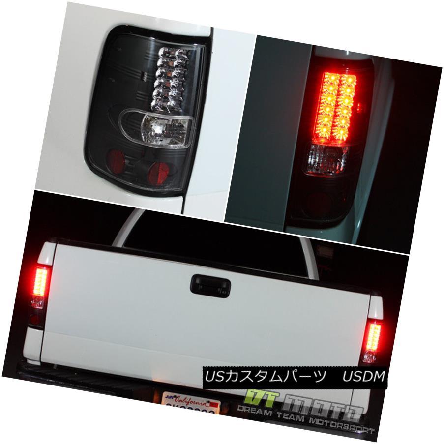 テールライト Black 2004-2008 Ford F150 F-150 Philips Lumileds LED Tail LIghts Lamp Left+Right 黒2004-2008 Ford F150 F-150 Philips Lumileds LEDテールライトランプ左+右