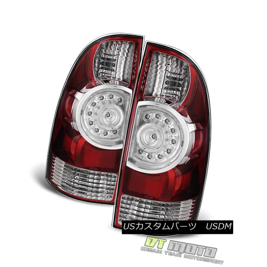 テールライト 2005-2015 Toyota Tacoma LED Tail Lights Brake Lamps Replacement 05-15 Left+Right 2005-2015 Toyota Tacoma LEDテールライトブレーキランプの交換05-15 Left + Right