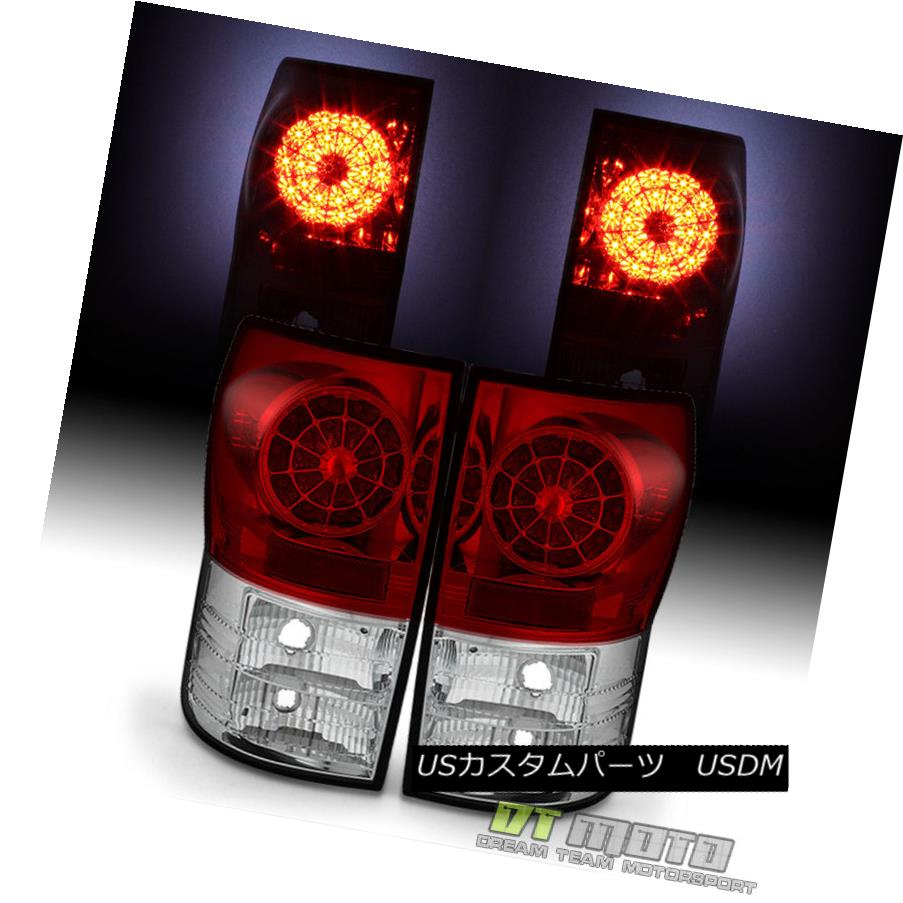 テールライト 2007-2013 Toyota Tundra Red Clear Lumileds LED Tail Lights Rear Lamps Left+Right 2007-2013 Toyota Tundra Red Clear Lumileds LEDテールライトリアランプ左+右