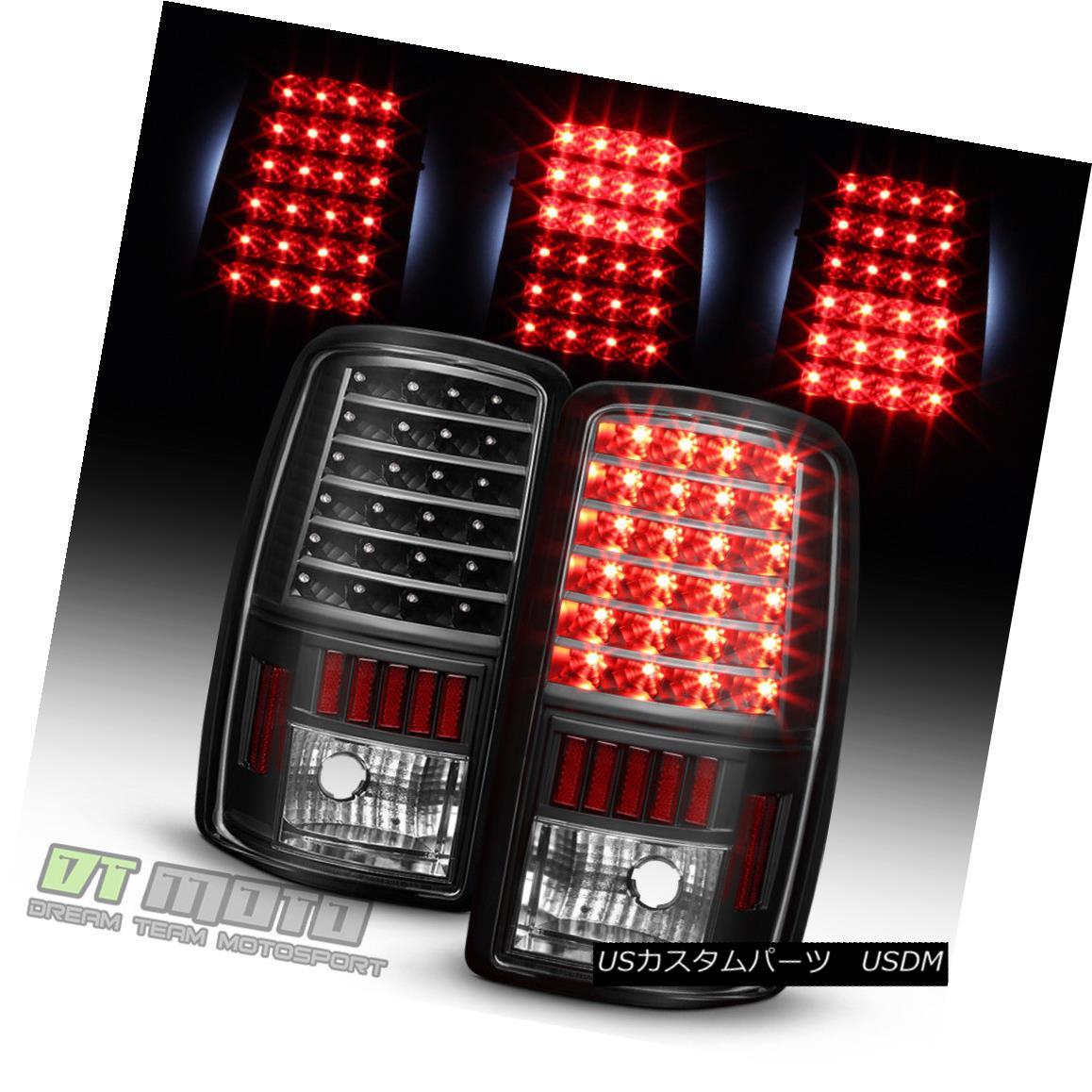 テールライト Black 2000-2006 Chevy Suburban Tahoe GMC Yukon XL LED Tail Lights Brake Lamps ブラック2000-2006シボレー郊外タホGMCユーコンXL LEDテールライトブレーキランプ