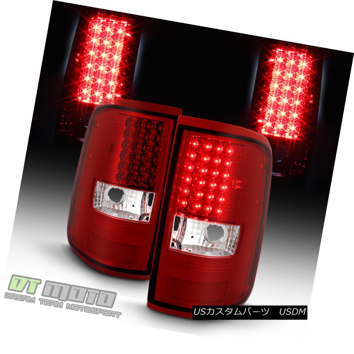 テールライト 2004 2005 2006 2007 2008 Ford F150 Red LED Tail Lights Brake Lamps Left+Right 2004 2005 2006 2007 2008フォードF150レッドLEDテールライトブレーキランプ左+右