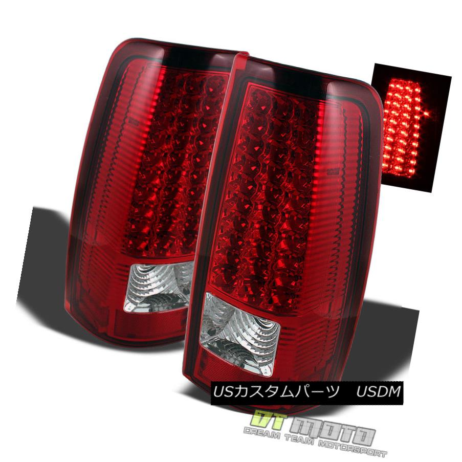 テールライト 1999-2006 GMC Sierra 1500 2500 3500 Red Clear LED Tail Lights Lamps Left+Right 1999-2006 GMC Sierra 1500 2500 3500赤クリアLEDテールライトランプ左+右