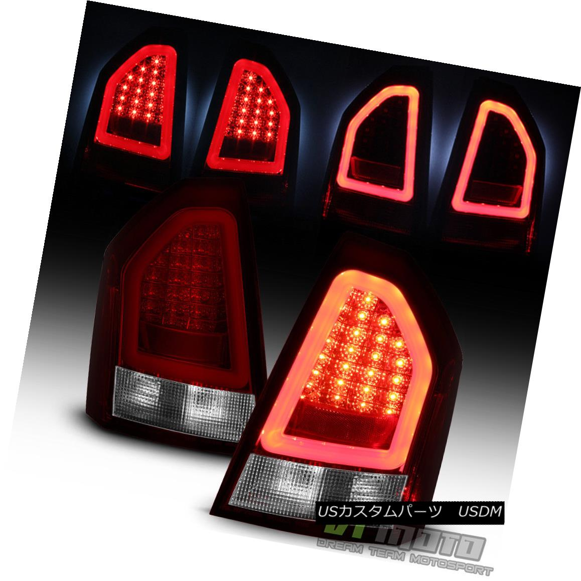 テールライト 2005-2007 Chrysler 300 Lumileds Red Clear LED Pyro Tube Tail Lights Brake Lamps 2005-2007クライスラー300 Lumiledsレッドクリアパイロチューブテールライトブレーキランプ