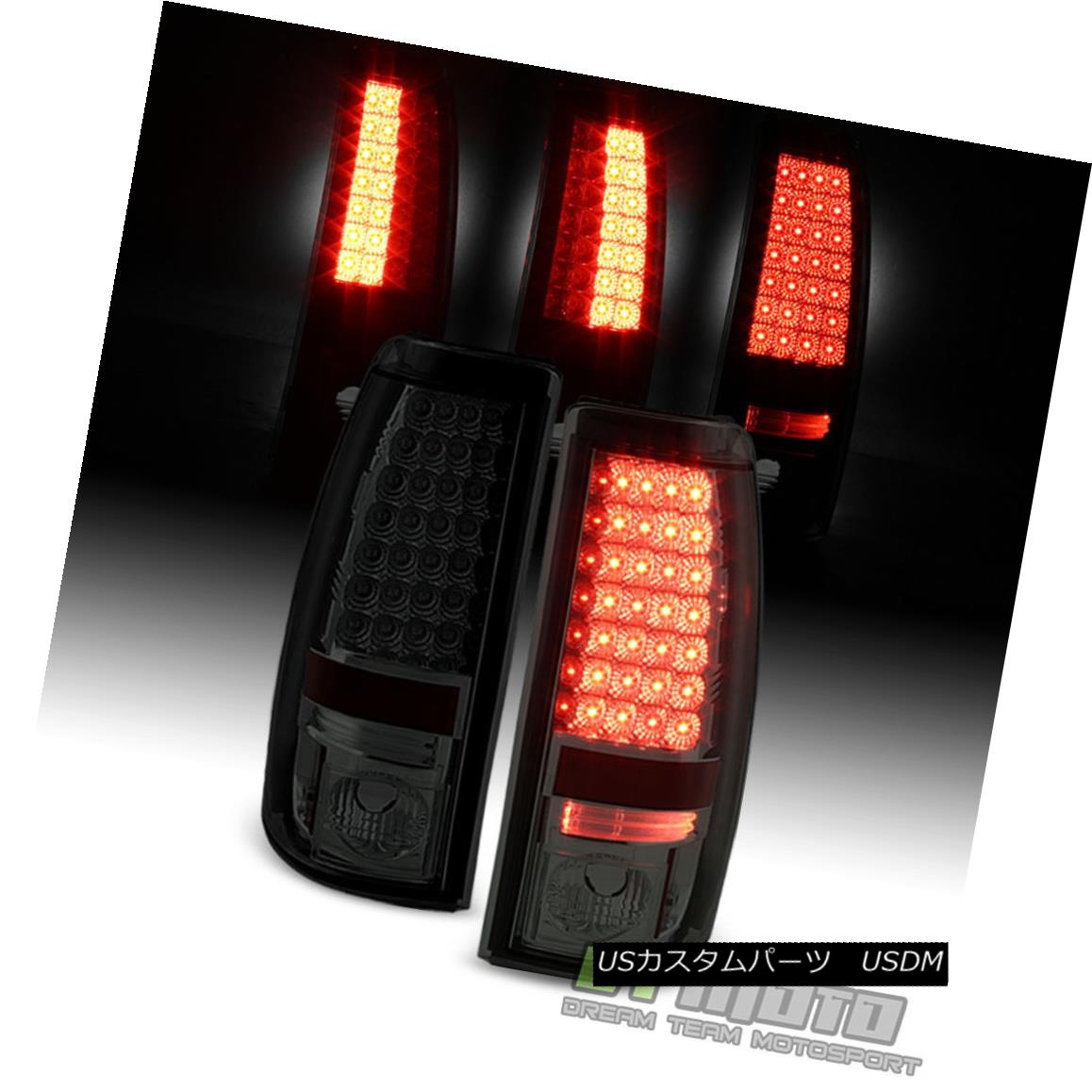 テールライト 2003-2004-2005-2006 Chevy Silverado Lumileds LED Smoked Tail Lights Brake Lamps 2003-2004-2005 -2006 Chevy Silverado Lumileds LEDスモークテールライトブレーキランプ