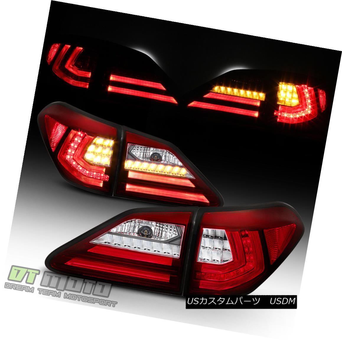 テールライト Update 2010 2011 2012 Lexus RX350 Red LED Tube Tail Lights Lamps Left+Right 4PCS アップデート2010 2011 2012レクサスRX350赤色LEDテールライトランプ左+右4PCS