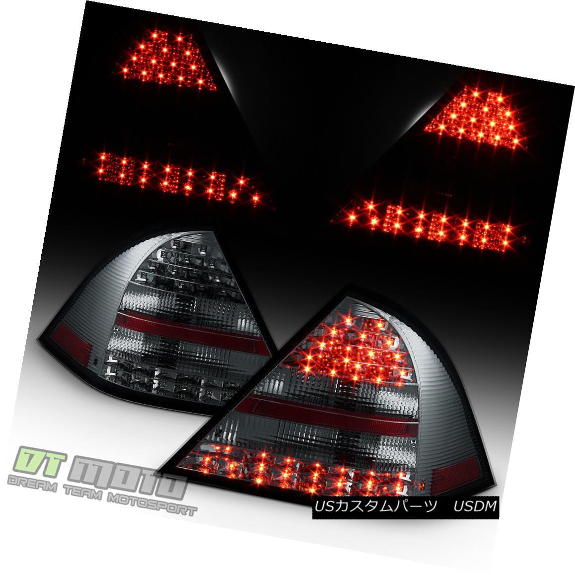 テールライト Smoked 2001-2004 Mercedes Benz W203 C-Class Philips-Lumileds LED Tail Lights スモーク2001-2004メルセデスベンツW203 CクラスPhilips-Lumile ds LEDテールライト