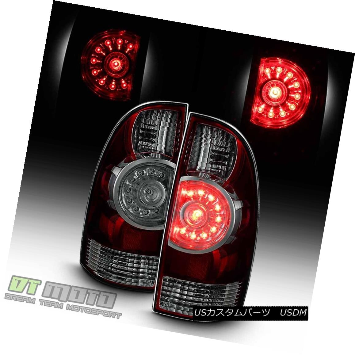 テールライト [Smoke Lens] 2005-2015 Toyota Tacoma PreRunner TRD LED Tail Lights Lamps 05-15 [スモークレンズ] 2005-2015 Toyota Tacoma PreRunner TRD LEDテールライトランプ05-15