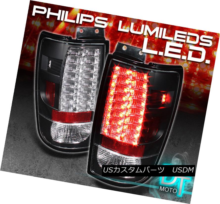 テールライト Black 97-02 Expedition Philips-Led Perform Tail Brake Lights Lamps Left+Right 黒97-02遠征Philips-Ledテールブレーキライトランプ左+右