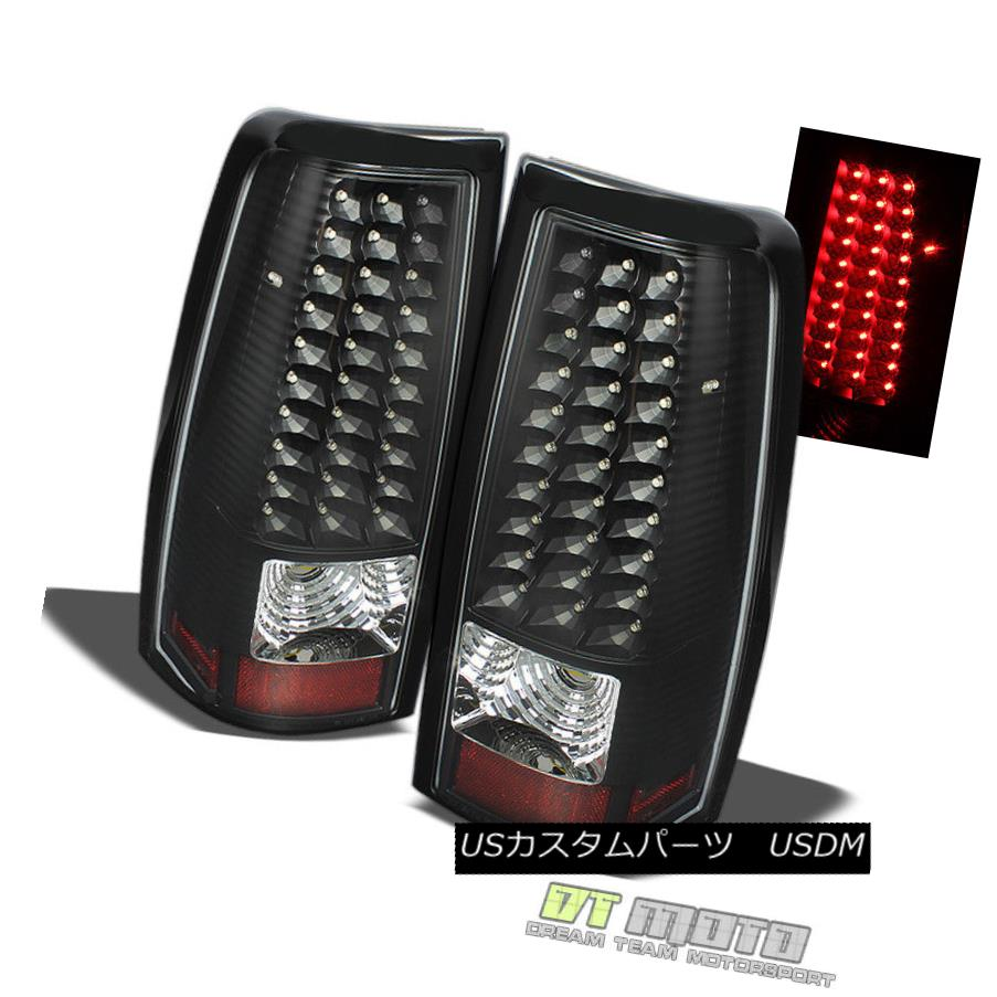 1999-2002 Silverado Sierra Chrome LED Brake Tail Lights Pair