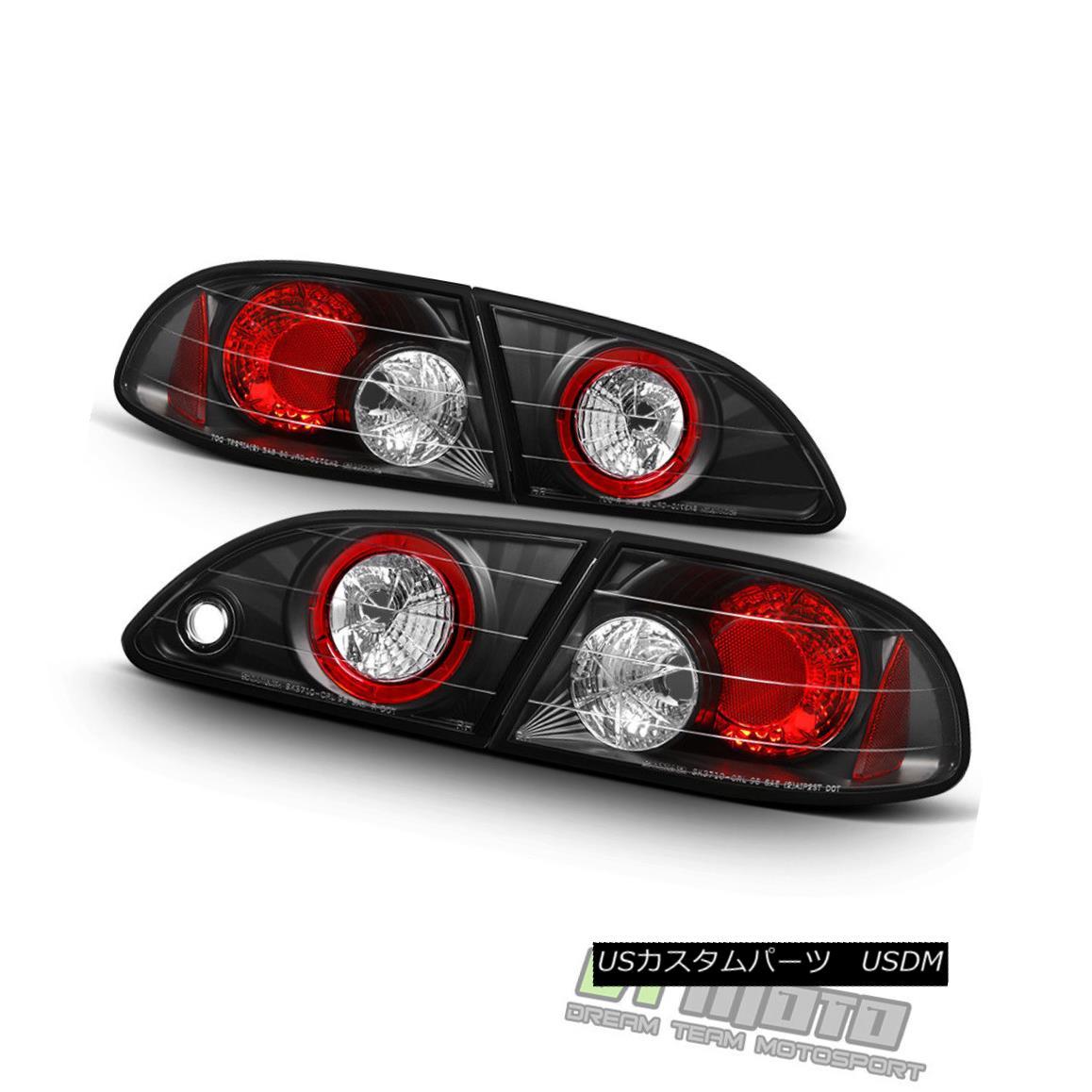 テールライト Black Tail Lights Brake Lamps For 1998-2002 Toyota Corolla CE/LE/VE Left+Right ブラックテールライトブレーキランプ1998-2002トヨタカローラCE / LE / VE左+右