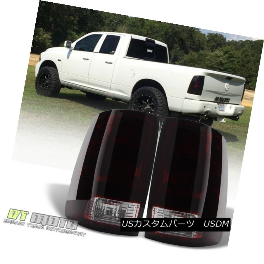 テールライト Black Tinted 2009-2017 Dodge Ram 1500 10-17 Ram 2500 3500 Tail Light Brake Lamps ブラック・ティンテッド2009-2017ドッジ・ラム1500 10-17ラム2500 3500テール・ライト・ブレーキ・ランプ
