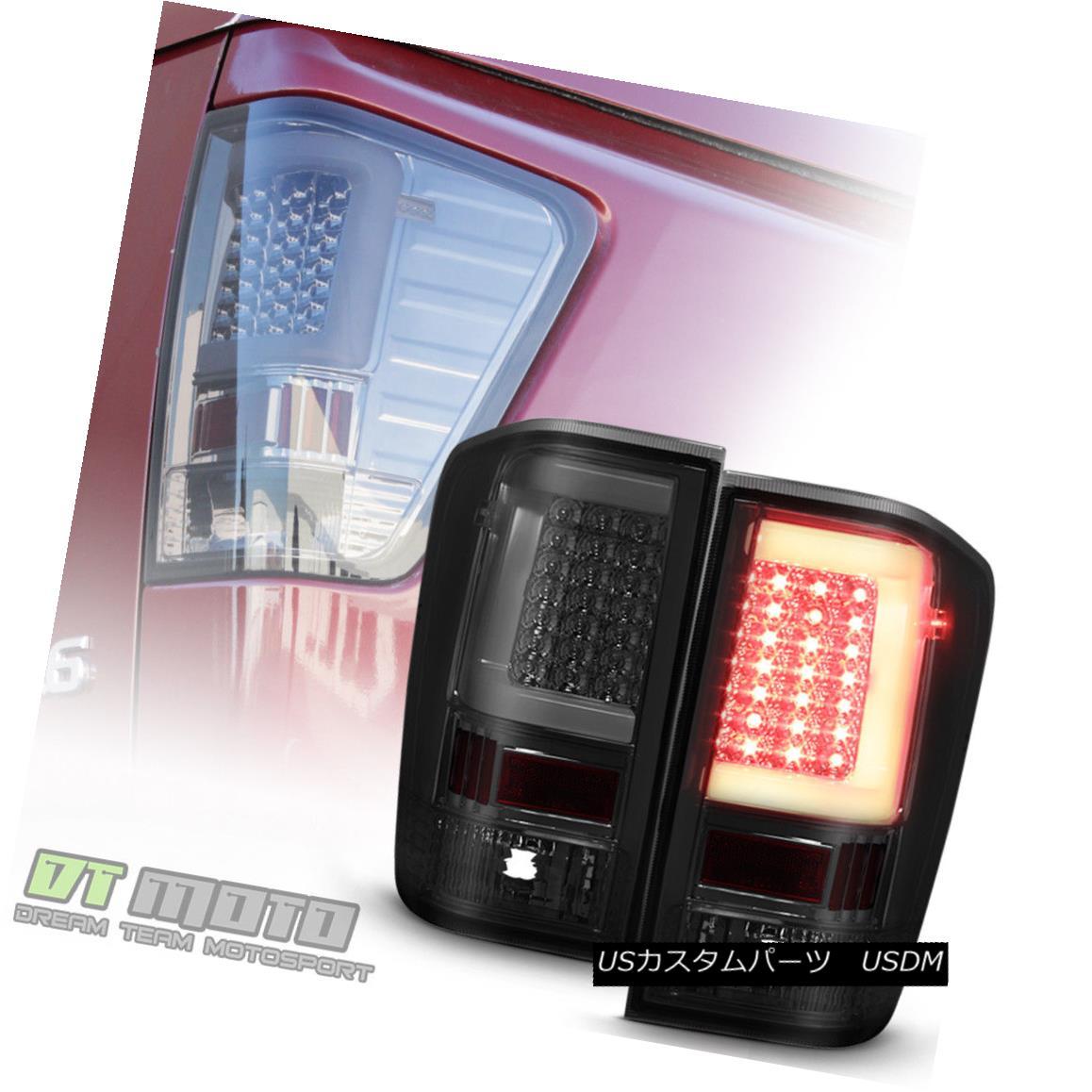 テールライト NEW Style LED Light Tube Smoke Tail Lights Lamps For 2004-2015 Titan 5.6L Truck 新しいスタイルLEDライトチューブ煙テールライトランプ2004年から2015年タイタン5.6Lトラック