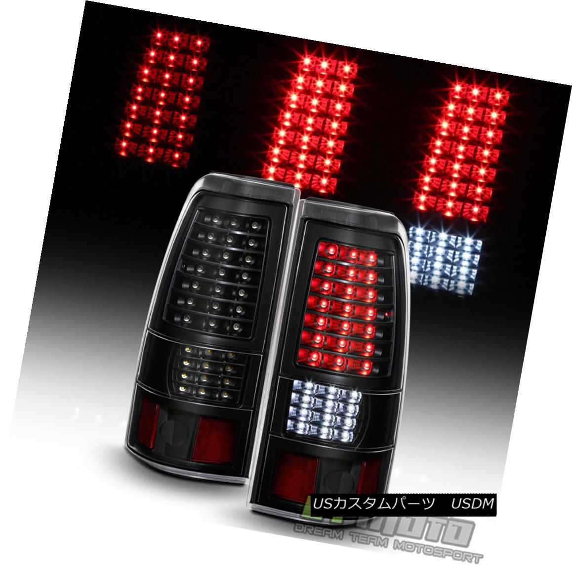 テールライト Black 1999-2006 GMC Sierra 1999-2002 Chevy Silverado Full LED Tail Lights Lamps ブラック1999-2006 GMC Sierra 1999-2002 Chevy SilveradoフルLEDテールライトランプ