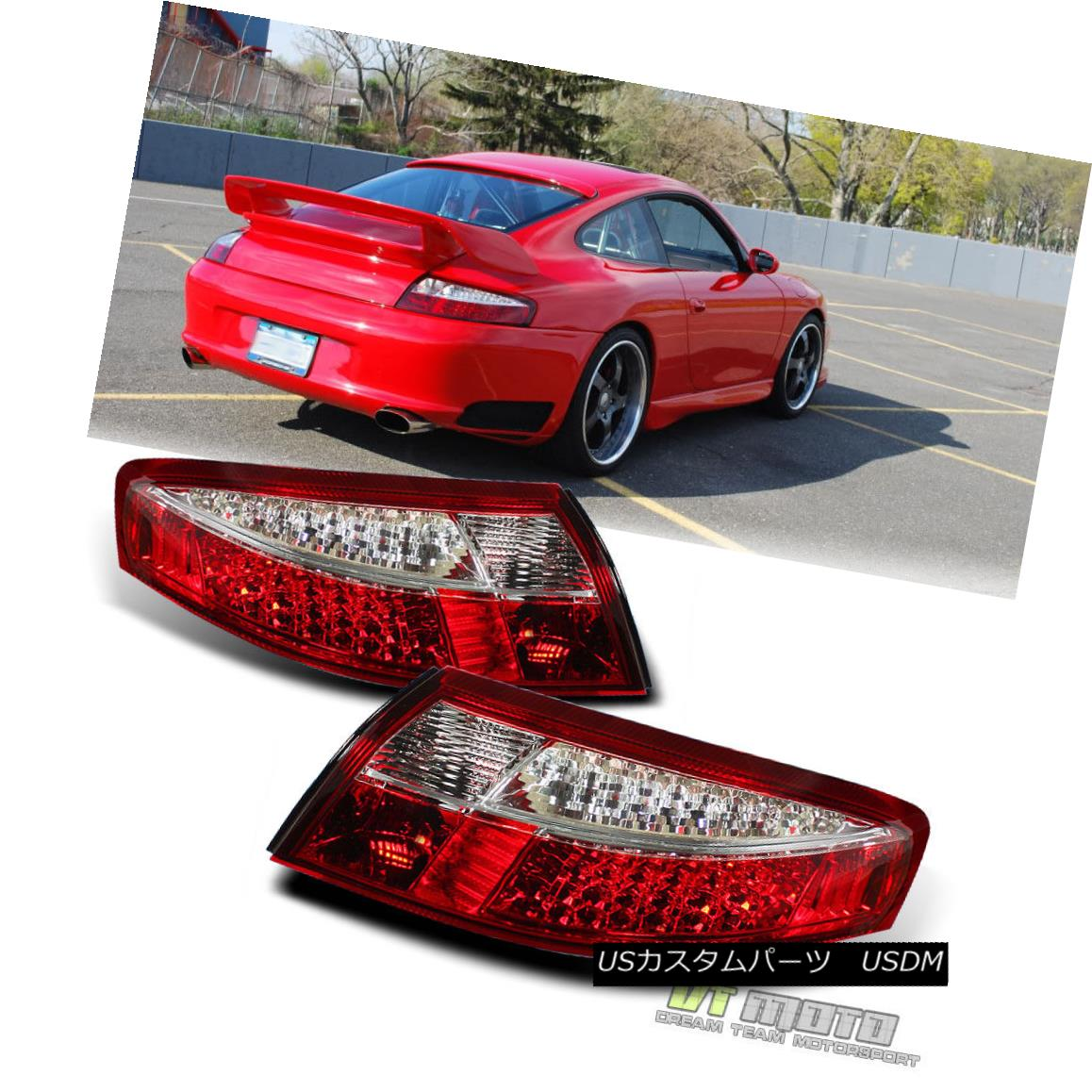 テールライト 1999-2004 Porsche 911 996 Carrera 4 Philips Lumileds LED Tail Lights Lamps 99-04 1999-2004 Porsche 911 996 Carrera 4 Philips Lumileds LEDテールライトランプ99-04