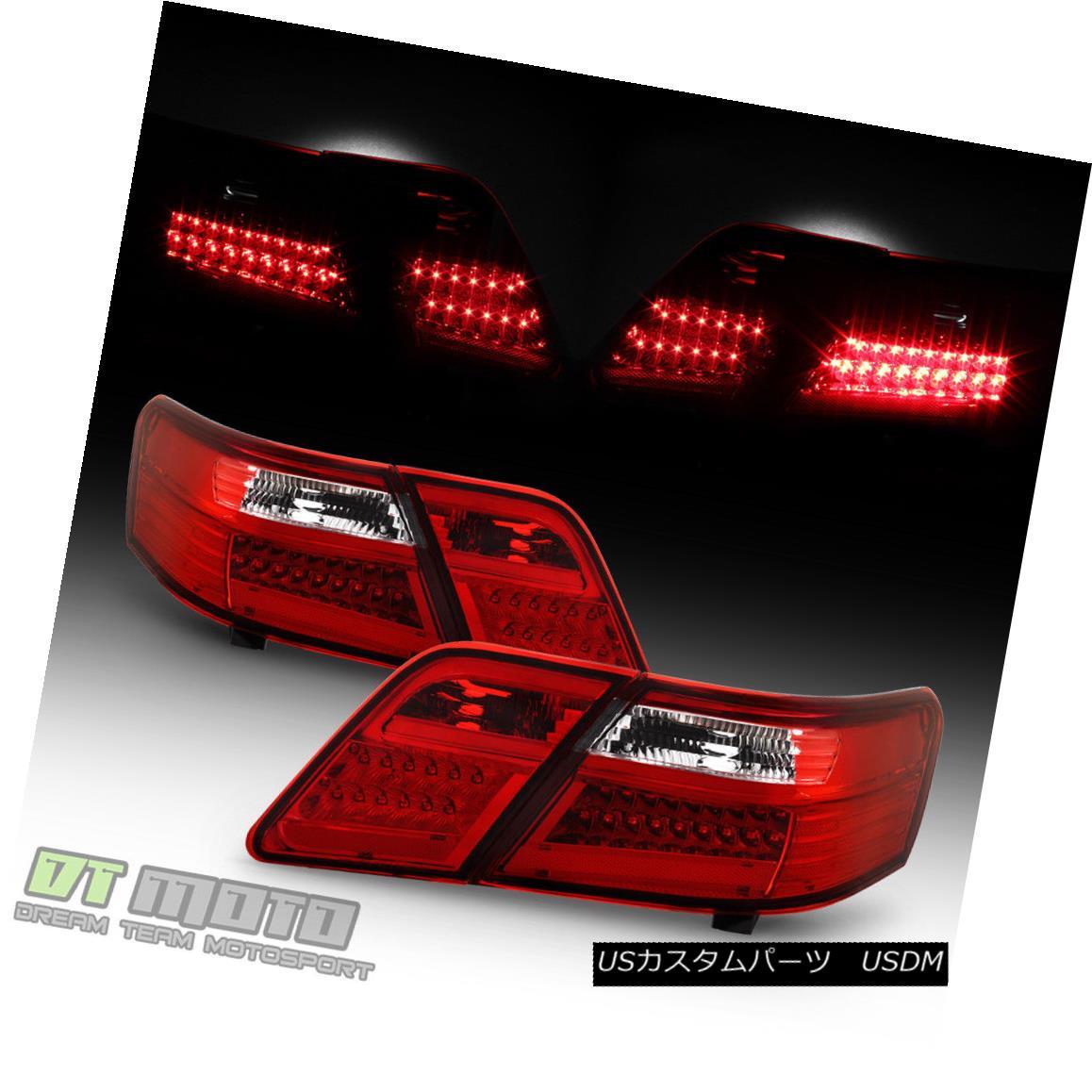 テールライト 2007-2009 Toyota Camry LED Red Clear Tail Lights Brake Lamps 07 08 09 Left+Right 2007-2009トヨタカムリLEDレッドクリアテールライトブレーキランプ07 08 09左+右
