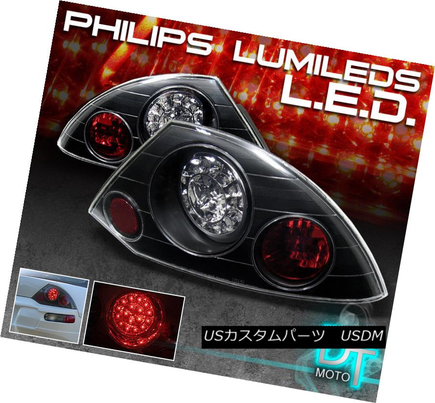テールライト Fits Black 00-02 Mitsubishi Eclipse Philips-LED Tail Brake Lamps Left+Right フィッティングブラック00-02 Mitsubishi Eclipse Philips-LEDテールブレーキランプ左+右