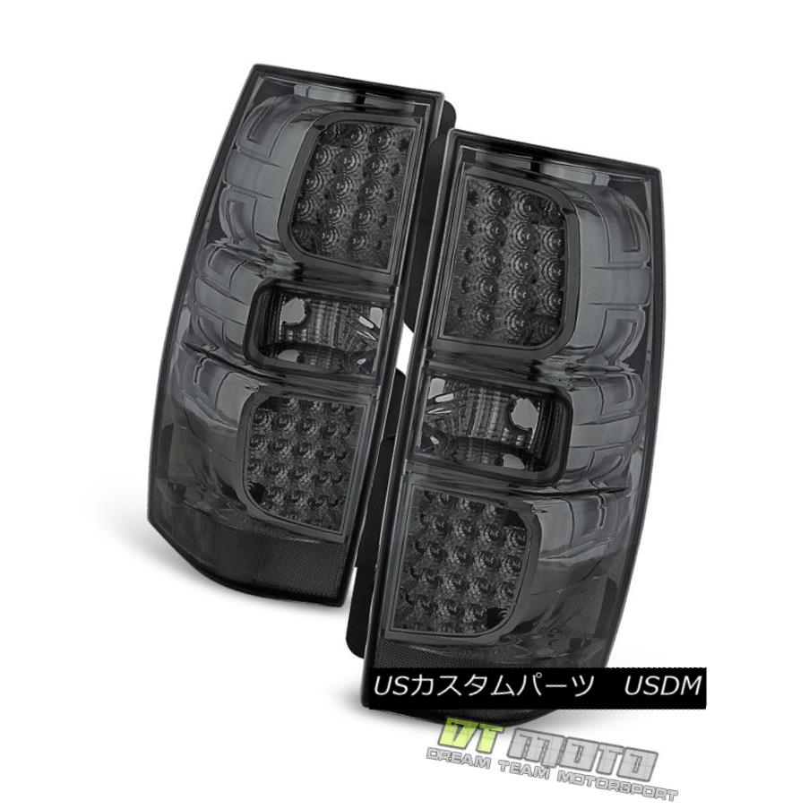 テールライト Smoke 2007-2014 Chevy Suburban Tahoe Yukon LED Tail Lights Brake Lamps Pair Set Smoke 2007-2014 Chevy Suburban Tahoe Yukon LEDテールライトブレーキランプペア