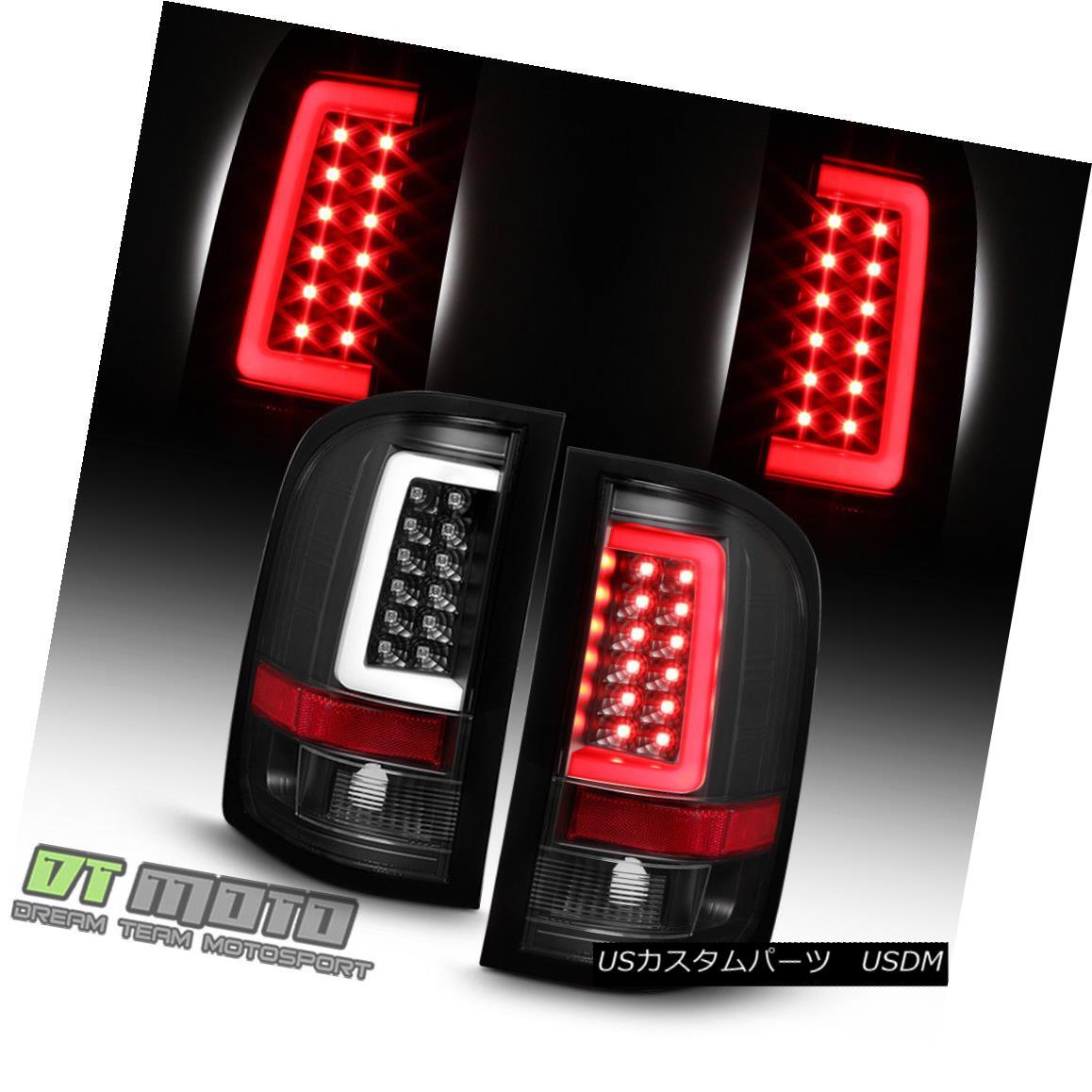テールライト Black 2007-2013 Chevy Silverado 1500 2500 3500 LED Tube Tail Lights Brake Lamps ブラック2007-2013 Chevy Silverado 1500 2500 3500 LEDチューブテールライトブレーキランプ