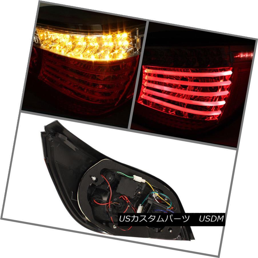 テールライト 2004-2007 BMW E60 5-Series LED Tube Tail Lights Brake Lamps Left+RIght 04-07 2004-2007 BMW E60 5シリーズLEDチューブテールライトブレーキランプ左+リレー04-07