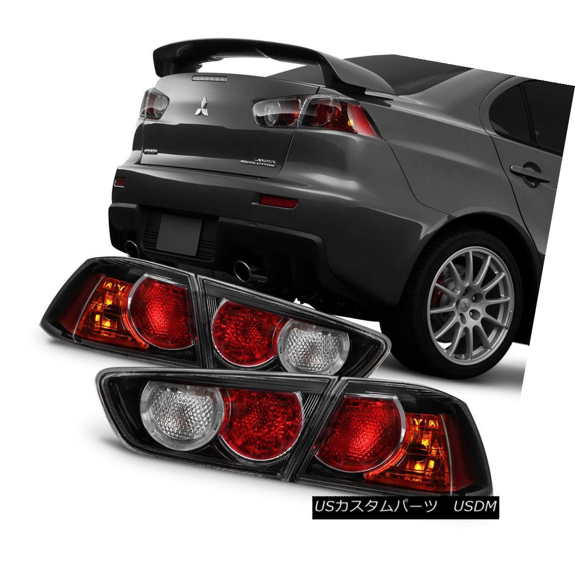 テールライト Black X 2008-2017 Lancer Black 08-15 Evolution EVO Lights X Tail Lights Brake Lamps Left+Right ブラック2008-2017ランサー08-15エボリューションXテールライトブレーキランプ左+右, ウダグン:dea36bfd --- officewill.xsrv.jp
