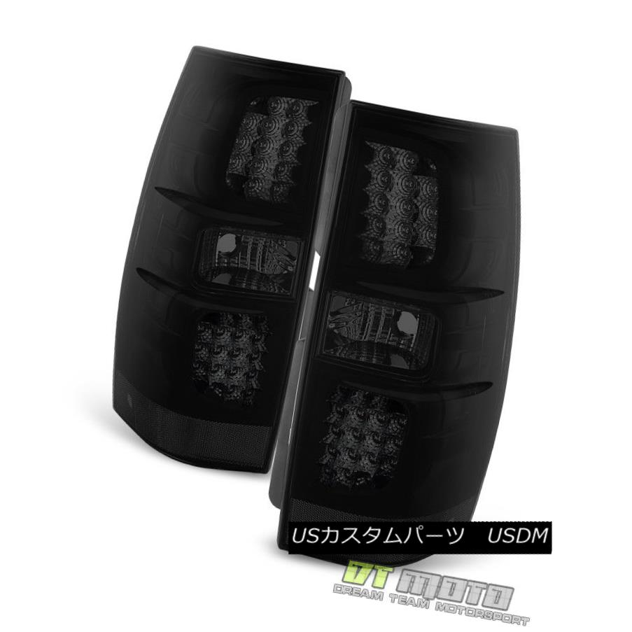 テールライト Blk Smoked 2007-2014 Chevy Suburban Tahoe Yukon LED Tail Lights Lamps Left+Right Blk Smoke 2007-2014シボレー郊外Tahoe Yukon LEDテールライトランプLeft + Right